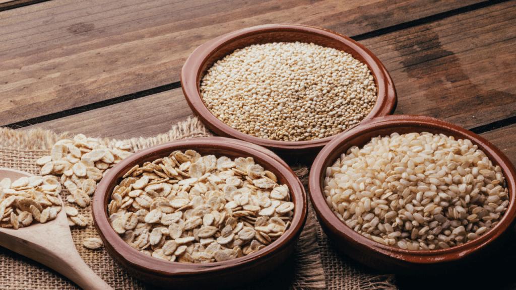 Alimentos integrais de uma alimentação saudável